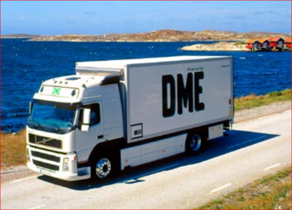 Lastbil som drivs med DME - dimetyleter
