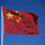 Folkrepubliken Kinas flagga.