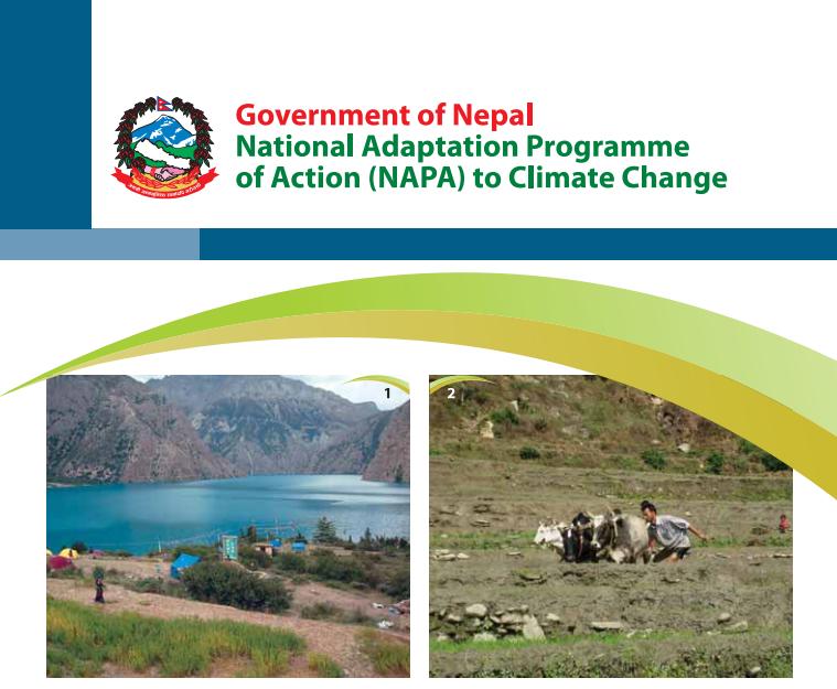 Förstasidan av Nepals NAPA - National Adaptation Programme of Action