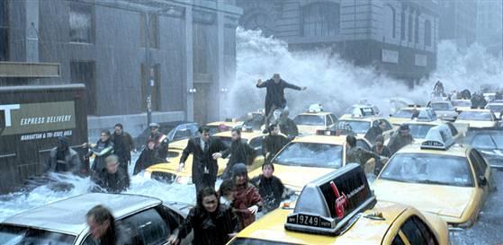 Day after Tomorrow är en spelfilm om hur klimatförändringarna skulle kunna tänkas drabba New York. Bild: 20th Century Fox