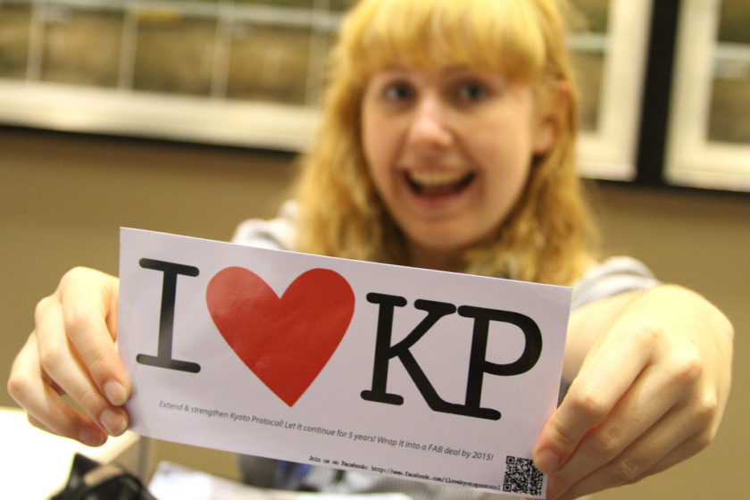 I love KP (Kyotoprotokollet). Foto: Speak Your Mind // Linh Do (CC BY-NC 2.0)
