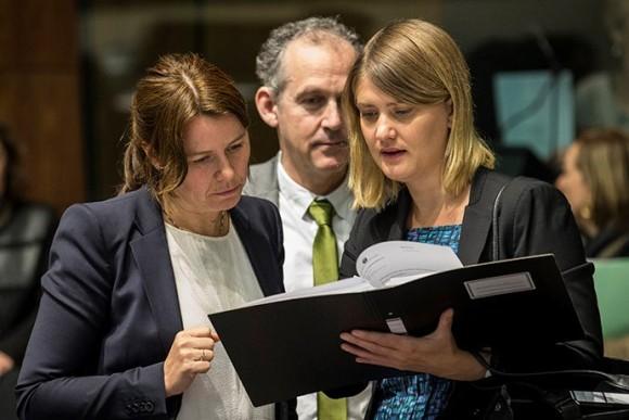 Klimat- och miljöminister Åsa Romson på EU-möte om utsläppshandel i Luxemburg den 26 oktober 2015. Bild: Europeiska unionens råd