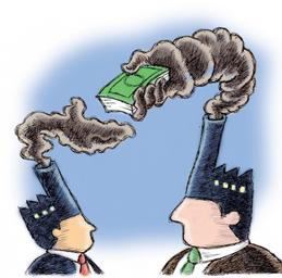 Utsläppsrätter kan användas i system för utsläppshandel.