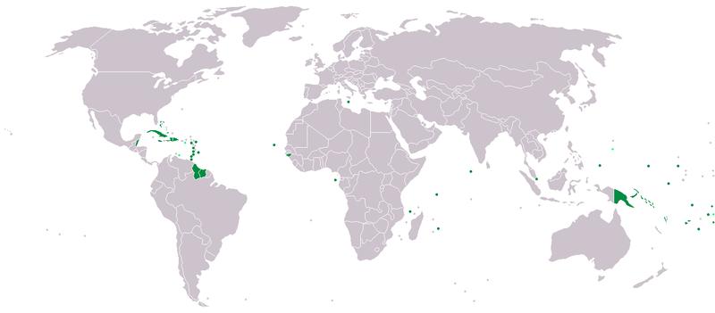AOSIS medlemsländer, källa: Wikipedia