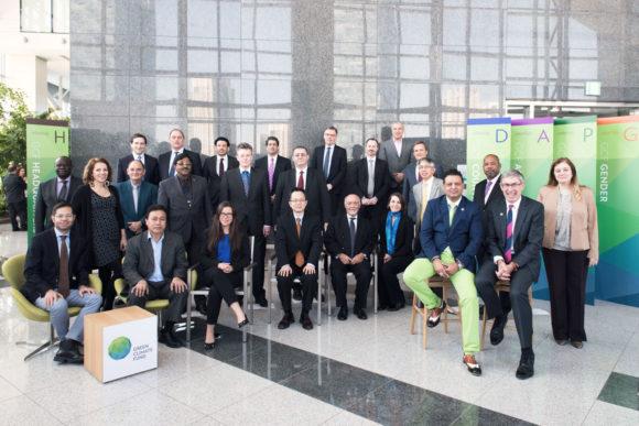 De 24 styrelsemedlemmarna för FNs gröna klimatfond GCF.