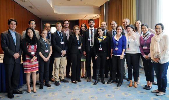 Medlemmar i AILAC under klimatmötet i Bonn 2014. Källa: IISD