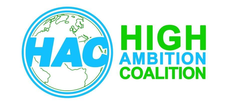 High Ambition Coalition verkar använda denna logotyp. Källa: Miguel Arias Cañete på twitter (@MAC_europa)