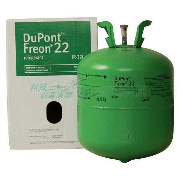 Freon, den numera förbjudna gasen som förstör ozonlagret - men som även är en växthusgas.