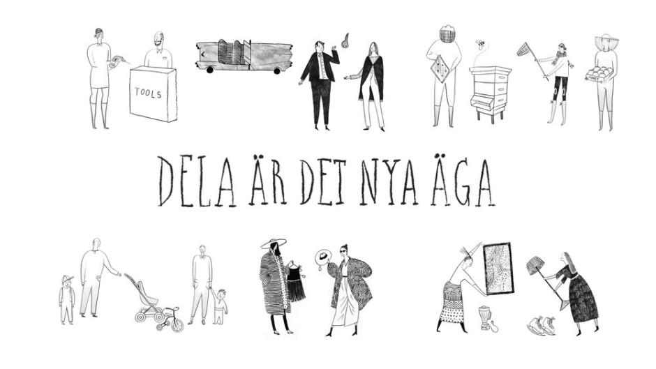 """""""Dela är det nya äga"""" är en dokumentärfilm om kollaborativ konsumtion. Bild: LottaFilm"""