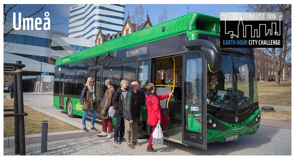 Umeå är Årets klimatstad 2016 i WWFs stadsutmaning Earth Hour City Challenge. Källa: WWF