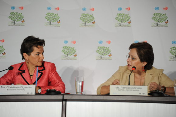 Patricia Espinosa och Christiana Figueres på FNs klimatmöte COP16 i Cancun 2010. Bild: UNFCCC