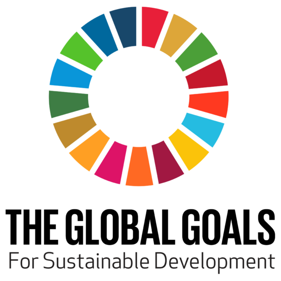 Officiell logotyp för Sustainable Development Goals (SDG). Gjord av Trollbäck+Company.