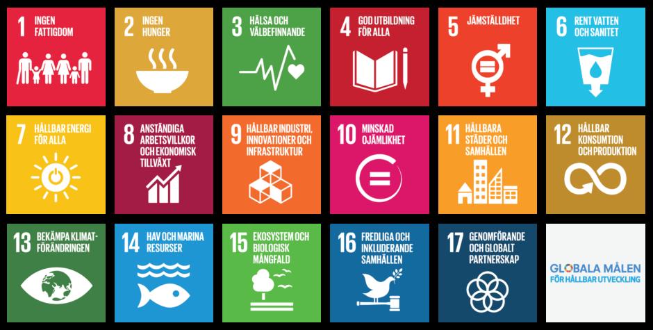 """Bland de 17 globala målen för hållbar utveckling är mål 13 det utpekade klimatmålet och lyder """"Bekämpa klimatförändringen"""". Bild: UNDP Sverige"""