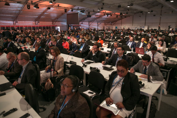CMA – Conference of the Parties serving as the meeting of the Parties to the Paris Agreement – höll sitt första möte i plenum på COP22. Bild: IISD/ENB | Kiara Worth