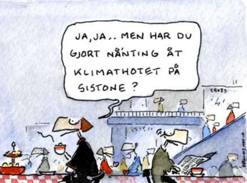 Klimatångest kan man känna när andra skuldbelägger en. Bild: Jan och Maria Berglin/SvD