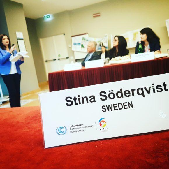 I de internationella klimatförhandlingarna om ACE representeras Sverige av Stina Söderqvist på Naturvårdsverket. Bilden från en workshop om ACE i La Spezia, Italien i oktober 2018.