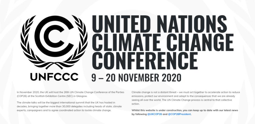 COP26 Glasgow, klimatmöte under klimatkonventionen UNFCCC